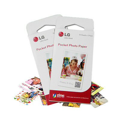 30pcs LG Zink Pocket Photo Paper PS2203 Print Film for Printer PD251 PD233 PD239