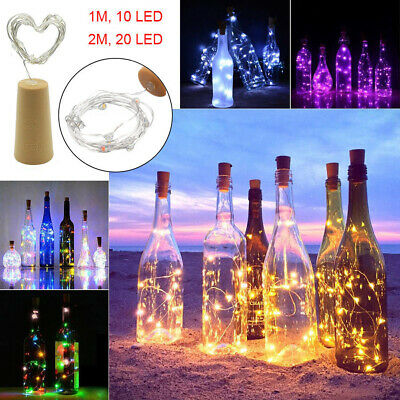 4x8x10x 10 20 LED Cork Shaped Copper Wire String Light Wine Bottle For Decor