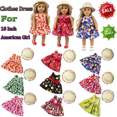 Accessory Toy Daily Costumes Dolls Clothes Dress For 18Inch American Doll Girl U