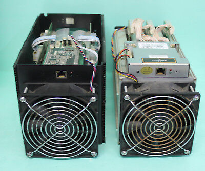 2 Antminers  1x S7  and 1x s5 bitcoin miner btc