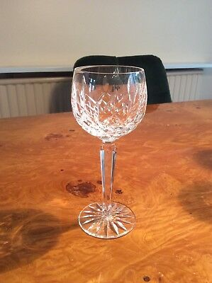 Waterford Crystal Lismore Pattern Hock Glass in mint condition