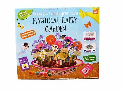 Creative Sprouts Grow & Paint Your Own My Mystical Fairy Garden Playset