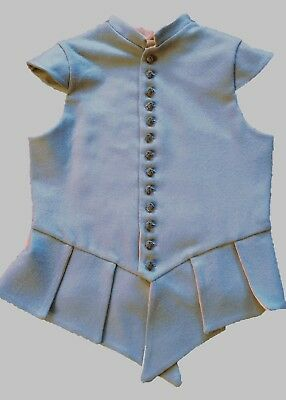 """17th Century Waistcoat - Blue - Fits up to 48"""" Chest"""