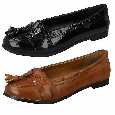 Ladies Spot On Flat Loafer Style Shoe 'with Tassel Vamp'