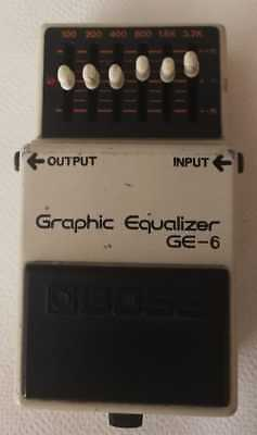 Boss Ge6 Equalizer Pedal Made In Japan