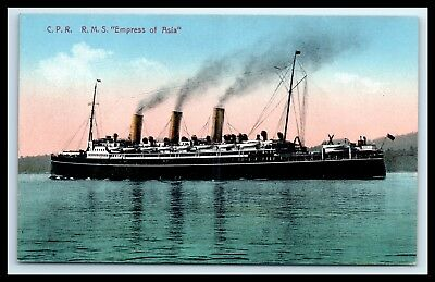 """Goldpath: Us Early Ship Postcard, C.p.r. R.m.s. """"empress Of Asia""""_Cv29_P6"""