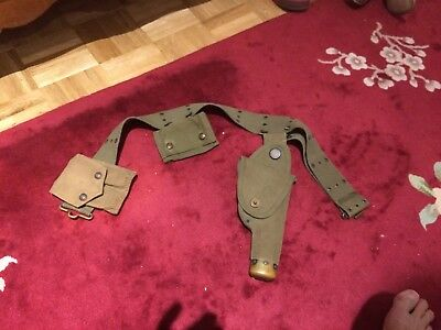 mills us army 1911 colt automatic canvas holster and belt