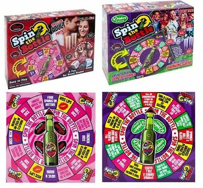 Spin The Bottle Cheeky Drunk Drinking Party Adult Board Game Fun Xmas Toys