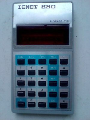 "RARE VINTAGE RETRO CALCULATOR  1978 ""Texet 880"" Executive"