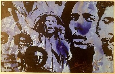 Bob Marley – Bobby Hill – 1x Run - Hand Embellished Mixed Media Print - Sold Out