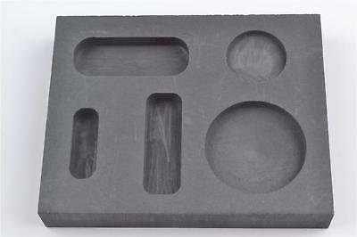 Graphite Casting Ingot Mold Metal Refining Scrap Bar Coin Combo 1/4 1/2 1 oz