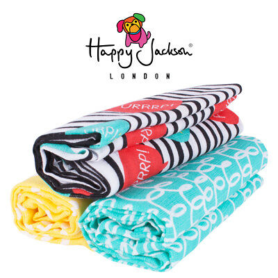 Happy Jackson 3 Large Baby Muslins - 100% Soft Cotton 70cm x 70cm