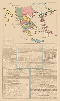 International Map - Ancient Greece - Le Sage 1801 - 23 x 38.26