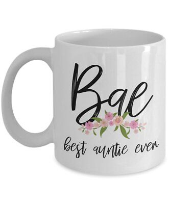 Bae Best Auntie Ever Mug Coffee Cup Great Birthday Gifts