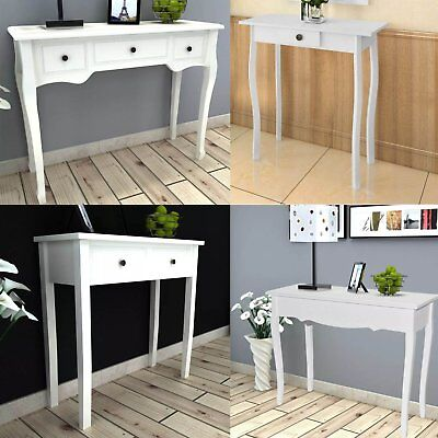 Modern white console table White Glass Modern White Console Table Hallway Hall Table Dressing Makeup Table With Drawers Picclick Uk Modern White Console Table Hallway Hall Table Dressing Makeup Table