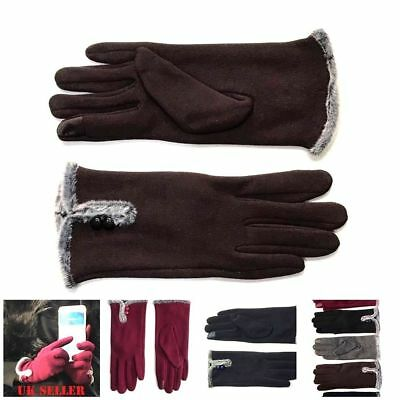 Ladies Women Winter Gloves Fleece Thermal Touch Screen Premium Quality Glove