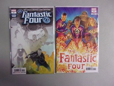 FANTASTIC FOUR #1 Alex Ross 1:50 Variant and 2 Per Store Ribic Premiere Variant!