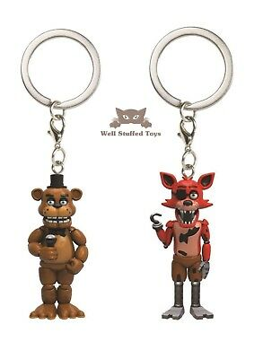 Five Nights at Freddy's Keyring Bagclip Foxy and Freddy Great Stocking Filler