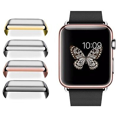For Apple Watch 2/3 38/42mm Slim Full Body Cover Snap On Screen Protector Case