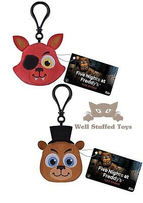 Five Nights at Freddy's Keyring Bagclip Plush FOXY AND FREDDY Stocking Filler