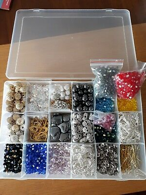 Swarovski Mixed Beads Shamballa Bicone  Crystals Jewellery Making Bracelets