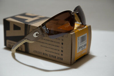 f48e55ea7c NEW Costa Del Mar Rockport Sunglasses Crystal Bronze   Silver Mirror Lens  580P