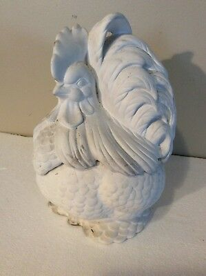 Vintage Ceramic Rooster Atlantic Mold Unpainted Cookie Jar