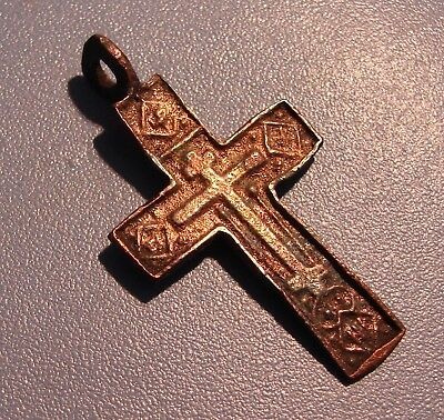 Ancient Bronze Cross. Rare. Original.