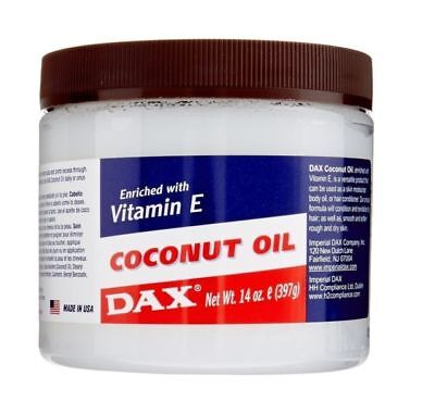 Dax Coconut Oil Enriched With Vitamin E For Skin And Hair 7.5oz (213g)