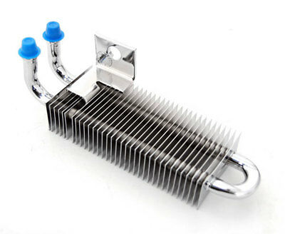 New Universal Mini Chrome Oil Cooler Assembly Fits Harley + Other Motorcycles
