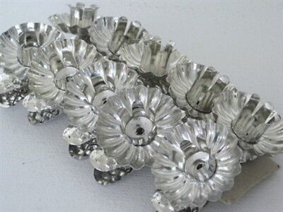 Victorian Trading 10 Silver Reflective Christmas Candle Clip On Candleholders 1E