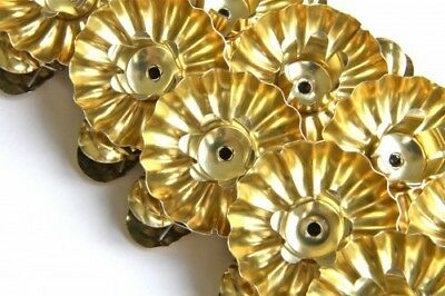 Victorian Trading 10 Gold Reflective Christmas Candle Clip On Candleholders 1D
