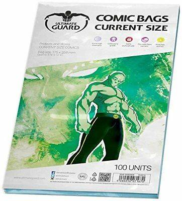 Ultimate Guard Comic Bags Current Size, Pack of 100