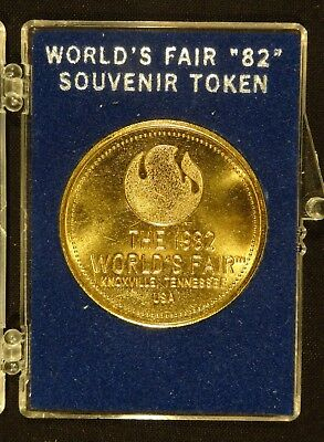 1982 World's Fair Knoxville TN. Souvenir Token in Plastic Holder
