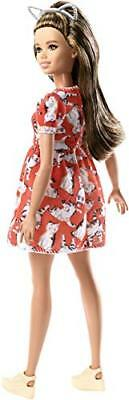 Barbie FJF57 Fashion and Beauty Fashionistas Doll-Kitty Dress-Petite with Long B