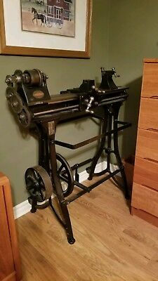 Antique Legrammes & Sons Metal Lathe, Allentown Pa