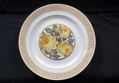 Antique Meissen Plate with Roses Painting