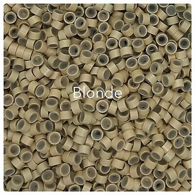 ~ Blonde 5mm Micro Beads Silicone Lined Stick I Tip Hair Extensions ~ Phoebe-s ~