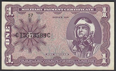 USA: 1 Dollar Military Payment Certificate - MPC 1969 series 681 (P-M79)