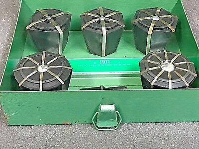 Jacobs Rubber Flex Collets J910, J911, J912, J913, J914, And Metal Case
