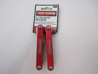 Craftsman Set of 2  Fold-Up Hex Key Set, Red, Standard & Metric, NEW