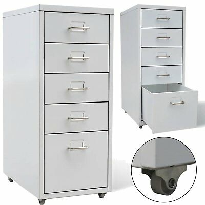 Metal Office Cabinet 4 Small Drawers Filing Cabinet Storage Cupboard Furniture