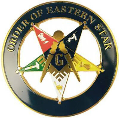 Order of the Eastern Star Past Patron Cut Out Car Emblem-New!