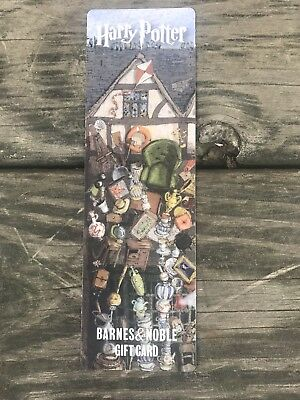 HARRY POTTER GIFT CARD BARNES AND NOBLE Bookmark