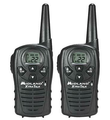 Midland LXT118 Xtra Talk Two Way Radio Walkie Talkie GMRS FRS 18 Mile 22 Channel