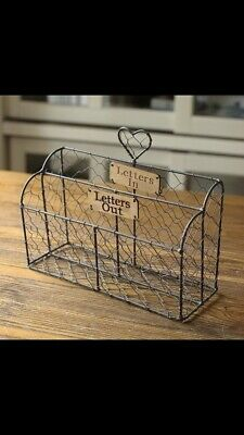 shabby chic rustic Style Wire Letter Rack