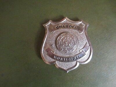 Old, obsolete Puerto Rico Guardia Municipal badge - NOT POLICE Plus two patches.