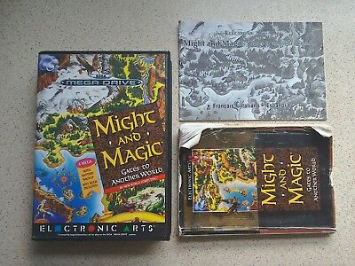 Might and Magic Empty Box & Manual Only - For Sega Mega Drive Game (PAL)