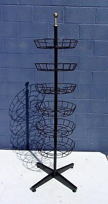 """Vintage Brass Iron Store Rotating 72""""tall Display Stand-Selling Out"""