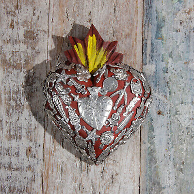 Mexican Milagro Heart Decoration Superior Small Dos
